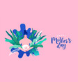 mothers day card pregnant woman vector image