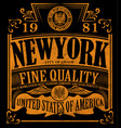 new york vintage slogan man t shirt graphic design vector image vector image