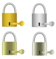 Padlocks with keys vector image