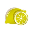 paper lemon icon vector image vector image