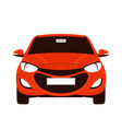 red car flat style front vector image