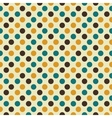 Retro seamless pattern with dots vector image vector image
