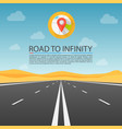 road to infinity highway road in the desert vector image vector image