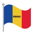 romania patriotic flag isolated icon vector image vector image