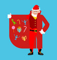 santa claus smuggler selling gifts cloak-seller vector image vector image