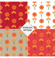 seamless pattern with a flower background vector image vector image