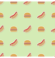 Seamless pattern with fastfood icons vector image vector image