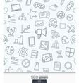SEO wallpaper Black and white marketing seamless vector image vector image