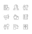 set line icons voting vector image