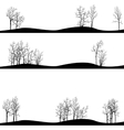 set of different landscapes with winter trees vector image