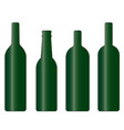 set of green wine and beer bottle vector image