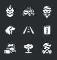 set post-apocalypse road icons vector image vector image
