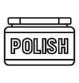 shoe polish icon outline style vector image vector image