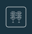 sound system icon line symbol premium quality vector image vector image