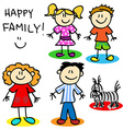 Stick figure family vector image
