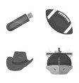technology clothing and other monochrome icon in vector image vector image