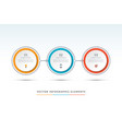 timeline infographic template of 3 circles vector image vector image