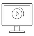 video online icon outline style vector image vector image