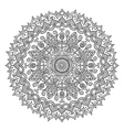 Vintage Round Mandala vector image vector image