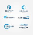 water waves logos vector image vector image