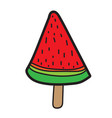 watermelon icecream icon vector image