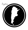 white map of argentina vector image vector image
