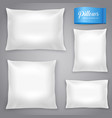 white realistic pillows background set vector image vector image