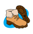 winter boots vector image
