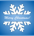 winter snowflake on a blue background vector image vector image