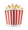 popcorn in striped cardboard package stock vector image
