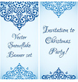 Christmas cute snowflake banner design with a vector image
