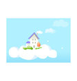 A view of a house vector image vector image