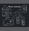 abstract bitcoin technology vector image vector image