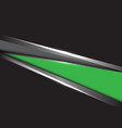 abstract green grey silver triangle on black vector image vector image