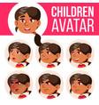 arab muslim girl avatar set kid vector image vector image