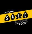 autumn sale minimalistic poster template vector image
