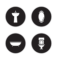 Bathroom black icons set vector image vector image
