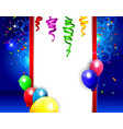 birthday background with colorful balloons vector image vector image