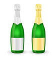 bottles of sparkling wine or champagne with vector image vector image