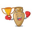 boxing winner amphora mascot cartoon style vector image