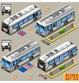 Bus Set 03 Vehicle Isometric vector image