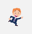 businessman running smiling vector image vector image