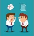 businessmen fury illness mental solving vector image