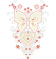 Butterfly abstract art design plant vector image vector image