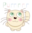 Cartoon smiling gentle beige kitty vector image vector image