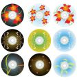 cd and dvd disks vector image