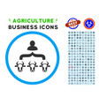 cow shepherd rounded icon with set vector image vector image