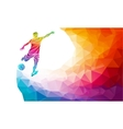 creative silhouette soccer player football vector image vector image