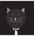 Cute Handdrawn Cat vector image vector image