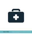 doctor paramedic bag icon logo template design vector image vector image